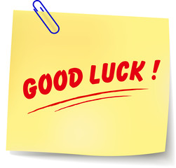 Vector good luck message