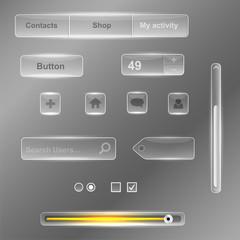 Интерфейс стекло