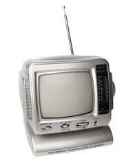 Mini analog television with FM/AM radio clipping path.