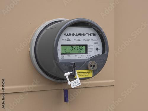 Leinwanddruck Bild Electricity meter