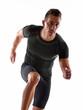 Hombre atleta corriendo,ejercitando.