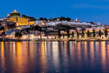 The historic centre of Porto at night