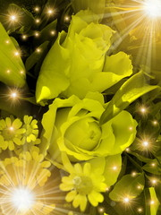 abstract festive flower