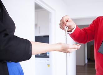 Person passing keys