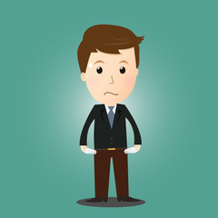 Vector of businessman have no money  .in concept