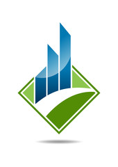 Finance growth success logo