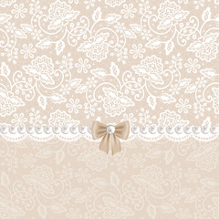 card with white lace