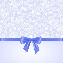 white lace and ribbon bow