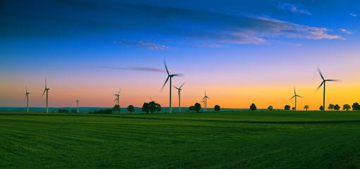 Wind farm on Kashubian - Poland