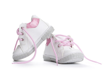 Baby Shoes for kids isolated over a white background