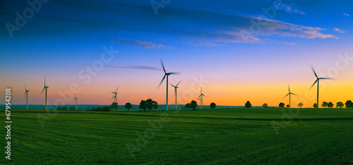 Wind farm on Kashubian - Poland - 67954208