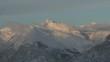 Timelapse Soleil sur Montagne enneigé