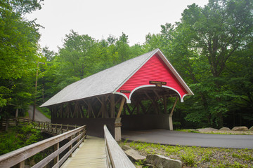 Quaint New England style covered bridge, New Hampshire