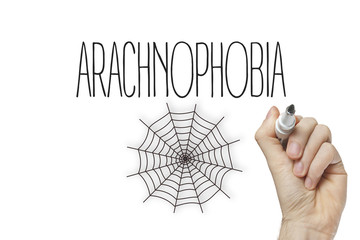 Hand writing arachnophobia