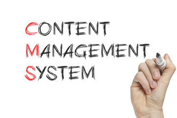 Hand writing content management system