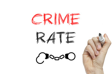 Hand writing crime rate