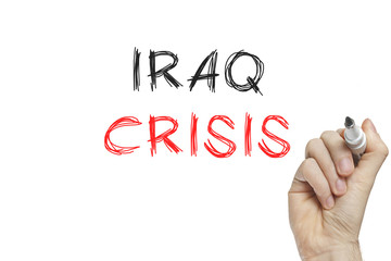 Hand writing iraq crisis