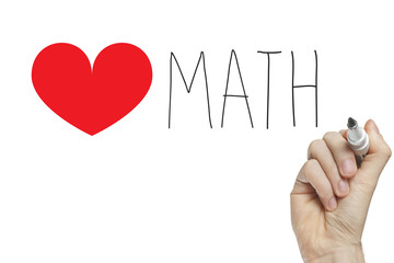 Hand writing heart math