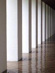 The columns and the shadow