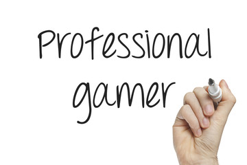 Hand writing professional gamer