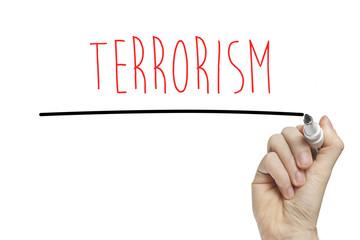 Hand writing terrorism