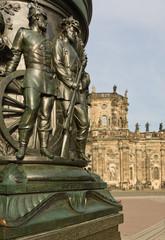 Detail Denkmal König Johann von Sachsen