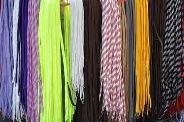 colorful shoelaces