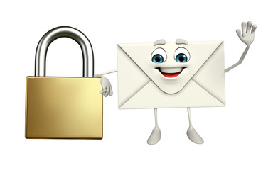 Mail Character with lock