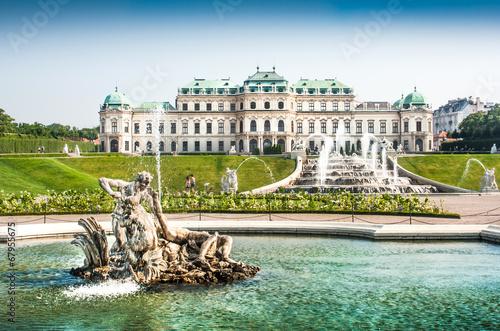 Famous Schloss Belvedere in Vienna, Austria