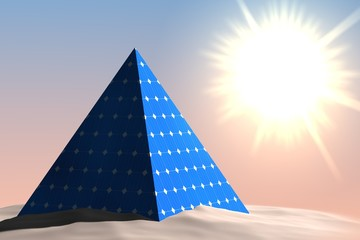 Piramide met zonnepanelen