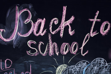 back to school on the blackboard