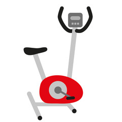 red hometrainer stationary bicycle  - symbol of sport