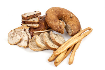 Assortimento di pane e grissini