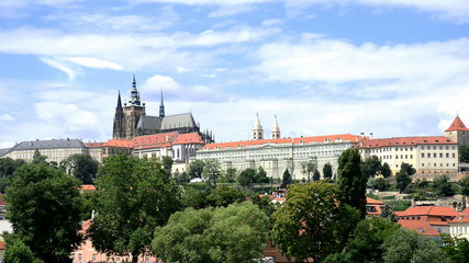 prague castle, czech republic,time lapse,fast motin