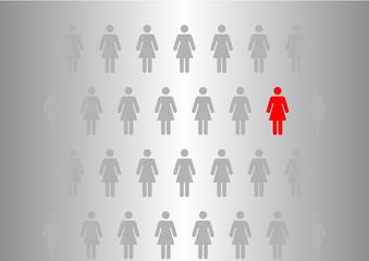 Frauen-Gruppe, Vorsorge-Untersuchung Gesundheit Frau