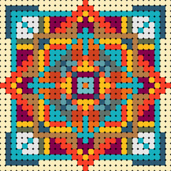 colorful pattern for beads
