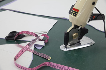 tape measure and scissors