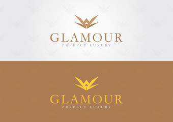 Glamour style. For a luxury brand.