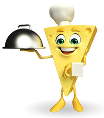 Cheese Character with dish pan