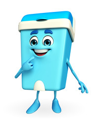 Dustbin Character with shy pose
