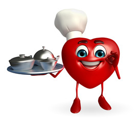 Heart Shape character with dish pan
