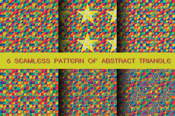 Seamless pattern of abstract triangle background