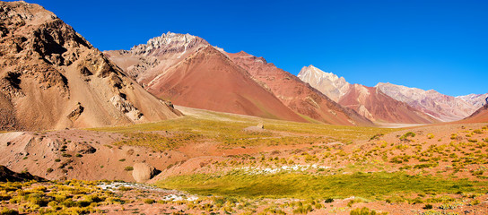 Andes mountain valley panorama, Argentina, South America