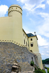 ancient castle Orlik. Czech Republic.