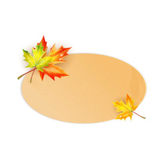 Frame for your text decorated with autumn maple leaves