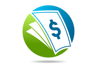 dollar document abstract finance logo