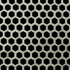 abstract  seamless honeycomb steel
