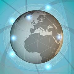 Mondo globalizzazione rete, internet, comunicare