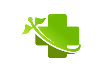 green   Pharmacy logo cross medicine