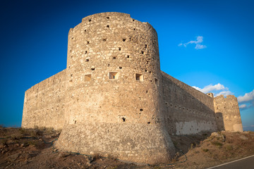 Turkish medieval fortess of Aptera in Crete, Greece.